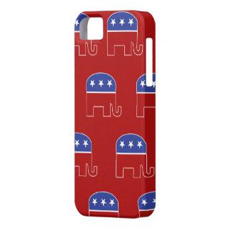 Caso republicano de IPhone del elefante iPhone 5 Case-Mate Cárcasas
