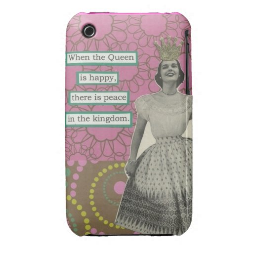 Caso retro de la reina iphone3 iPhone 3 Case-Mate carcasa