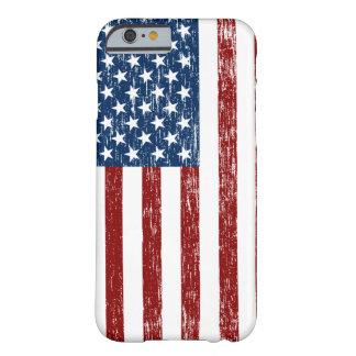 Caso retro del iPhone 6 de la bandera americana Funda De iPhone 6 Barely There