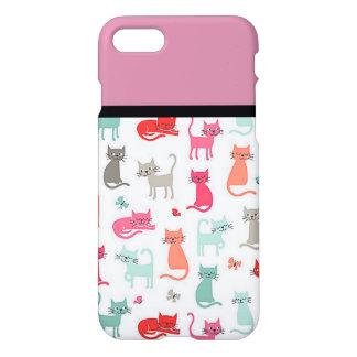 Caso retro del iPhone 7 de los amantes del gato Funda Para iPhone 7