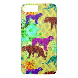 caso retro del iPhone de los gatos de selva de la Funda iPhone 7 Plus