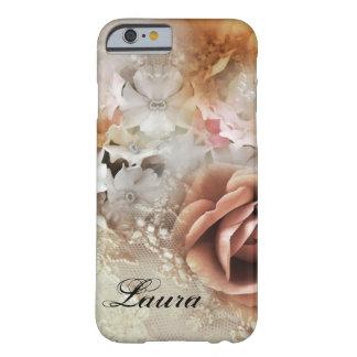 Caso retro romántico del iPhone 6 del estilo Funda Para iPhone 6 Barely There