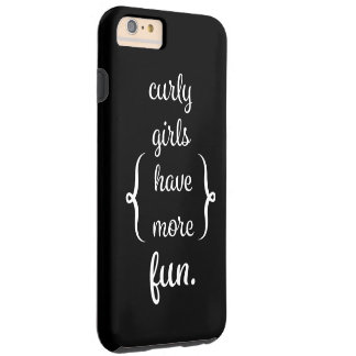 Caso rizado del iPhone 6/6s de los chicas Funda Resistente iPhone 6 Plus