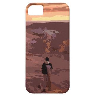 Caso rocoso del paisaje del hombre solo funda para iPhone SE/5/5s