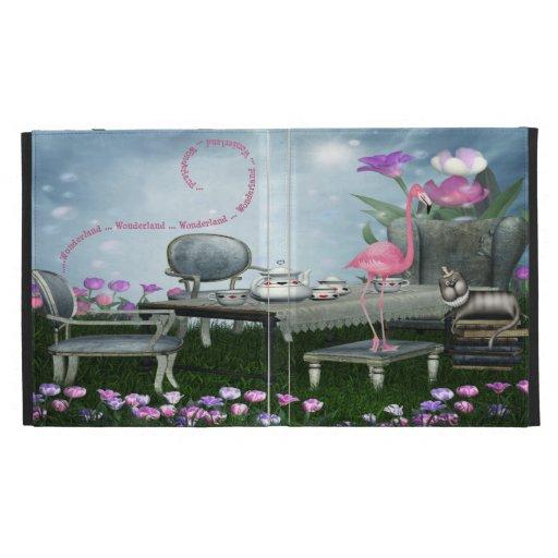 Caso rosado del iPad de la fiesta del té del flame