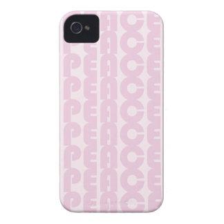 Caso rosado del iPhone 4/4s de la paz iPhone 4 Protectores