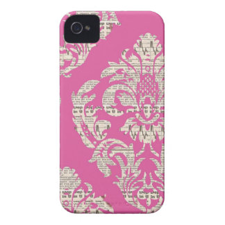Caso rosado del iPhone 4/4S del damasco del iPhone 4 Case-Mate Coberturas