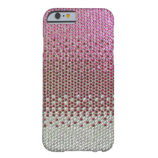 Caso rosado del iPhone 6 de Bling del brillo del Funda De iPhone 6 Barely There