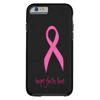 Caso rosado del iPhone 6 del amor de la fe de la Funda De iPhone 6 Tough