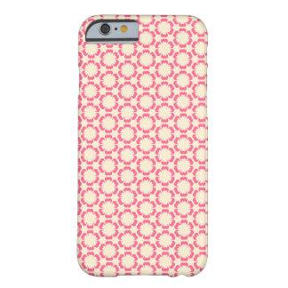 Caso rosado del iPhone 6 del diseño floral del Funda Para iPhone 6 Barely There