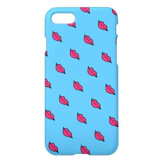 Caso rosado del iPhone 7 de los labios Funda Para iPhone 7