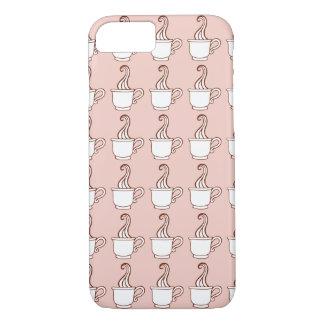 Caso rosado del iPhone 7 del café Funda iPhone 7