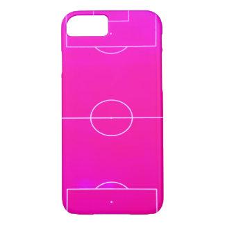 Caso rosado del iPhone 7 del campo de fútbol Funda iPhone 7