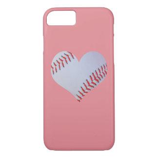 Caso rosado del iPhone del béisbol Funda iPhone 7