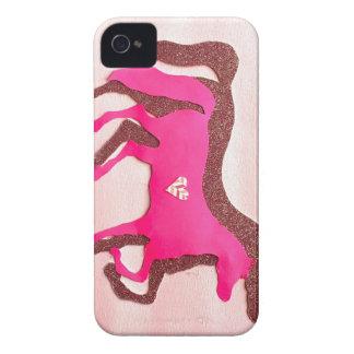 Caso rosado diseñado mano del iPhone 4/4S del Carcasa Para iPhone 4
