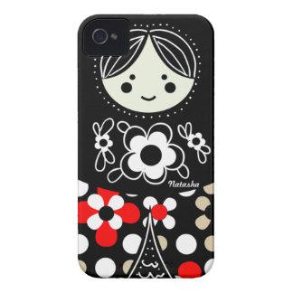 Caso ruso del iPhone de la muñeca de Babushka Case-Mate iPhone 4 Coberturas