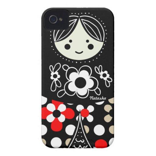 Caso ruso del iPhone de la muñeca de Babushka Matr Case-Mate iPhone 4 Coberturas