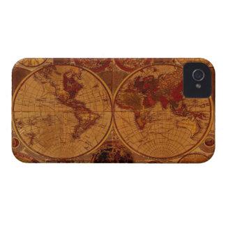 Caso rústico del iPhone 4 del mapa del mundo del v iPhone 4 Cobertura