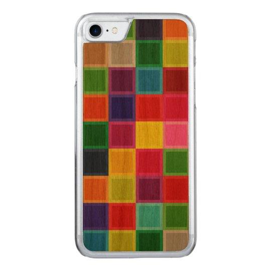 Caso tallado madera colorida del iPhone 7 de la Funda Para iPhone 7 De Carved