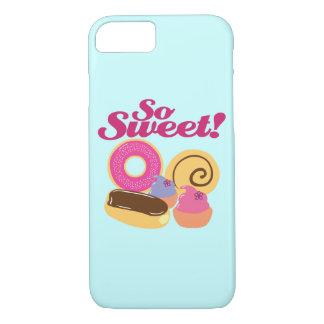 Caso tan dulce del iPhone 7 de los postres Funda iPhone 7