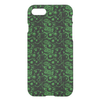 Caso translúcido del iPhone 7 atractivos verdes Funda Para iPhone 7