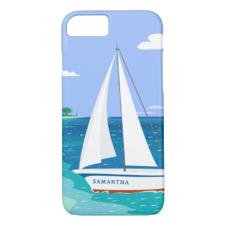 Caso tropical costero del iPhone 7 del velero del Funda Para iPhone 8/7