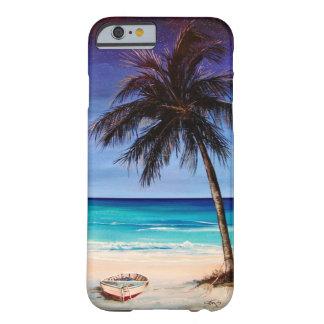 Caso tropical del iphone de la noche funda barely there iPhone 6