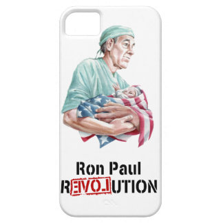 Caso v1 del iPhone de la revolución de Ron Paul iPhone 5 Protector