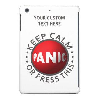Casos del personalizado del botón de pánico funda de iPad mini