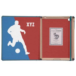 Casos del personalizado del jugador de fútbol iPad fundas
