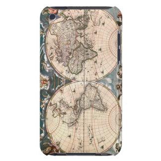 Casos frescos del tacto de iPod del mapa de Viejo iPod Touch Case-Mate Carcasas