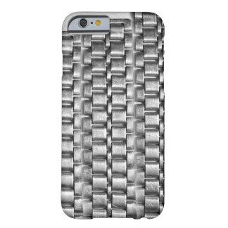 Casos metálicos del iphone - silve de cadena del funda barely there iPhone 6