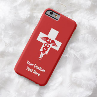 Casos profesionales médicos de encargo funda de iPhone 6 barely there