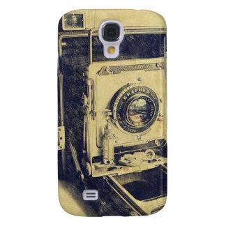 Casos retros del iPhone del diseño de la cámara Funda Samsung S4