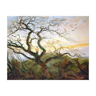 Caspar David Friedrich el árbol de cuervos Lienzo