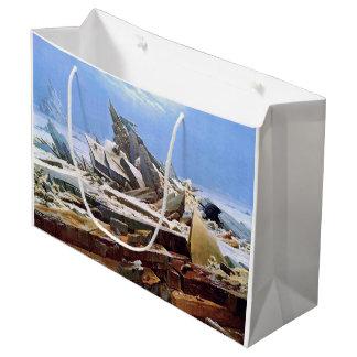 CASPAR DAVID FRIEDRICH - el mar del hielo 1824 Bolsa De Regalo Grande