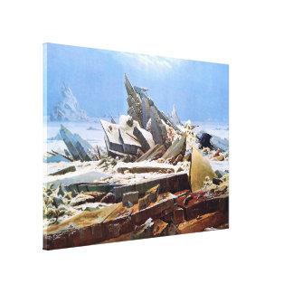 CASPAR DAVID FRIEDRICH - el mar del hielo 1824 Lienzo