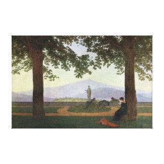 Caspar David Friedrich la terraza del jardín Lienzo