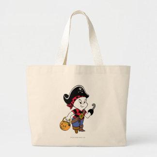 Casper en traje del pirata bolsa tela grande