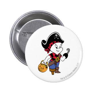 Casper en traje del pirata chapa redonda de 5 cm
