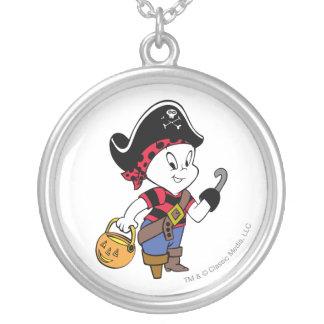Casper en traje del pirata colgante redondo