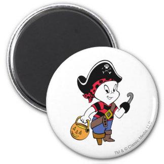 Casper en traje del pirata iman de nevera