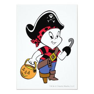 Casper en traje del pirata invitación 12,7 x 17,8 cm