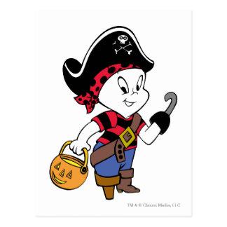 Casper en traje del pirata postal