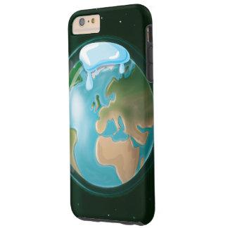 Casquetes glaciares de fusión en la tierra del funda de iPhone 6 plus tough