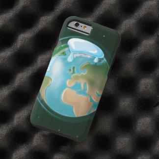 Casquetes glaciares de fusión en la tierra del funda de iPhone 6 tough