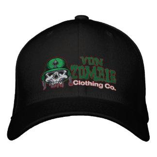 Casquillo 001 del cráneo del ejército del zombi gorra de béisbol