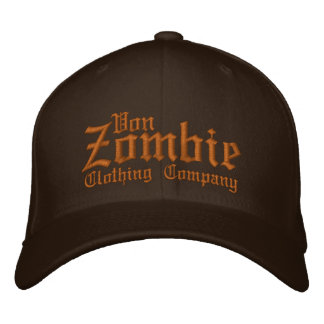 Casquillo 001P de Von Zombie Skull Gorras Bordadas