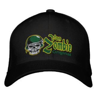 Casquillo 002 del cráneo del ejército del zombi gorra bordada