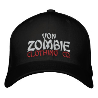 Casquillo 002C de Von Zombie Skull Gorras Bordadas